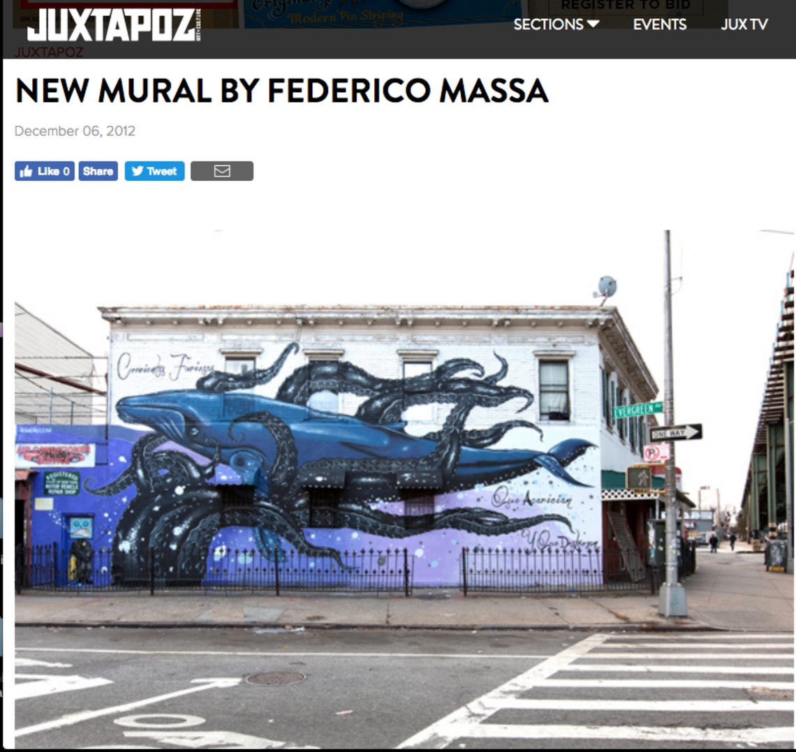 JUXTAPOZ - NEW MURAL BY FEDERICO MASSA