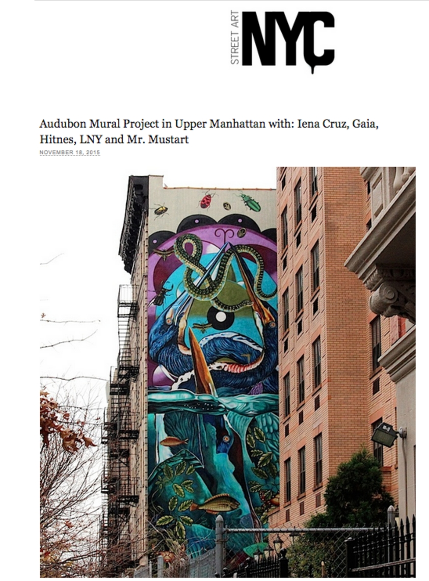 NYC Street Art- Audubon Mural Project Iena Cruz
