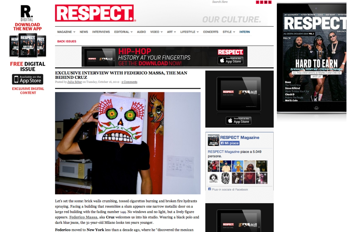 Respect Magazine - THE MAN BHIND CRUZ
